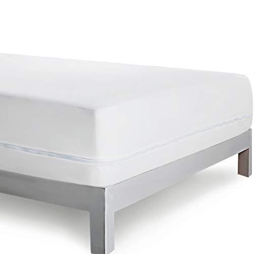 Bedsure Coprimaterasso Matrimoniale antiacaro Impermeabile 160x190/200cm - Proteggi Materasso...