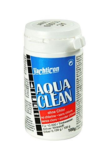 Polvere per disinfettare l'acqua da bere senza cloro