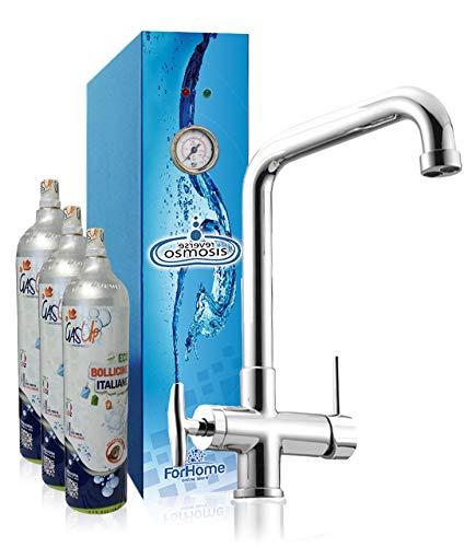 Depuratore di acqua frizzante sottolavello a Osmosi Inversa ForHome con rubinetto a 4 vie