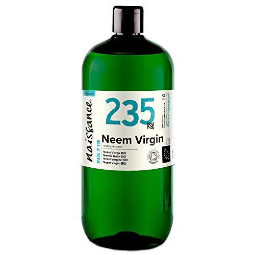 Naissance olio di Neem Vergine Certificato Biologico pressato a freddo 1L - Puro e Naturale al 100%,...