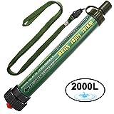 DeFe Personal Filtro Acqua Mini Portatile Purificatore Acqua Filtri 2000 L capacità Outdoor...