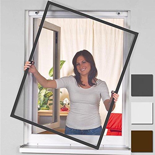 Easy Life zanzariera per finestra Greenline, zanzariera con telaio in alluminio per insetti, senza...