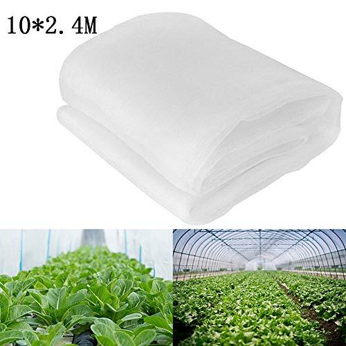 Zyurong, rete di protezione da insetti a maglia fine per coltivazione a tunnel 10M x 2.4M