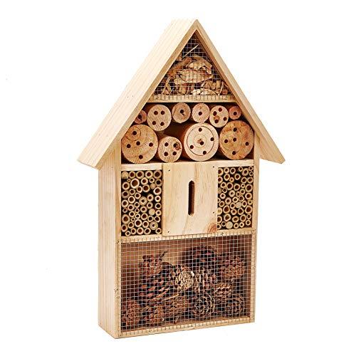 Pet Ting, Scatola di Legno per Insetti, api, Farfalle, Coccinella, Grande casa in Legno