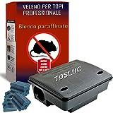 Trappola per Topi Grandi con Veleno per Topi Professionale Incluso, Novità 2021, 300gr Veleno...